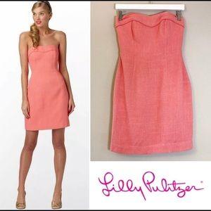 Lily Pulitzer Bibi Corset Dress in Ginger Orange